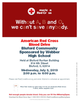 Blood Drive in July.