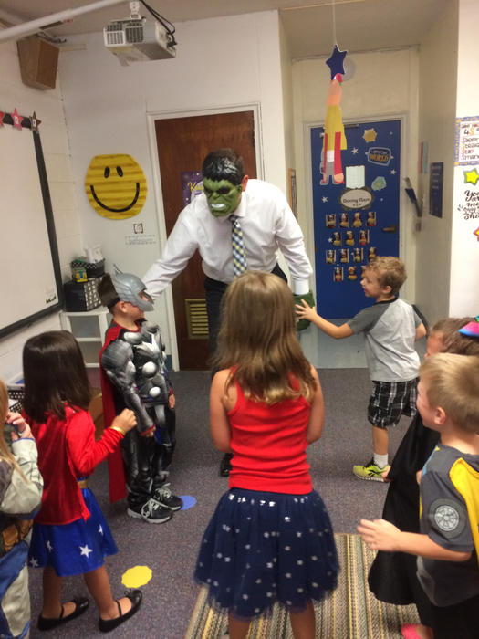 Superhero Day in kindergarten!