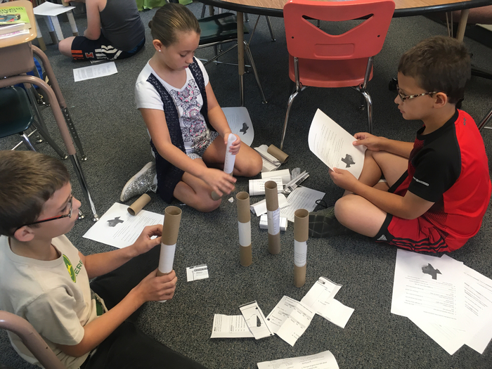 Making a paper tower