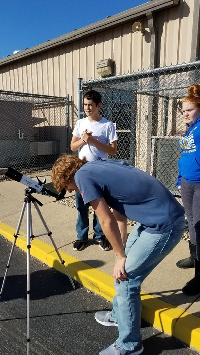 looking at the sun with a solar telescope