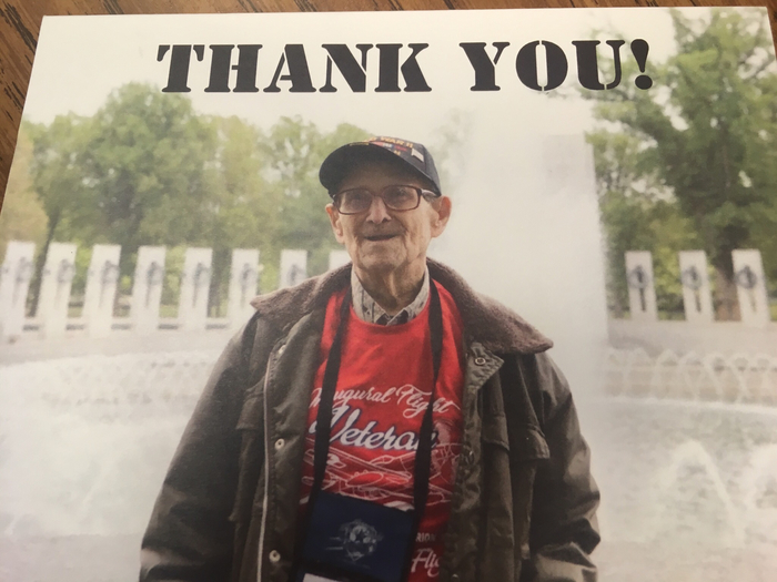 WWII Veteran on the Honor Flight 2018