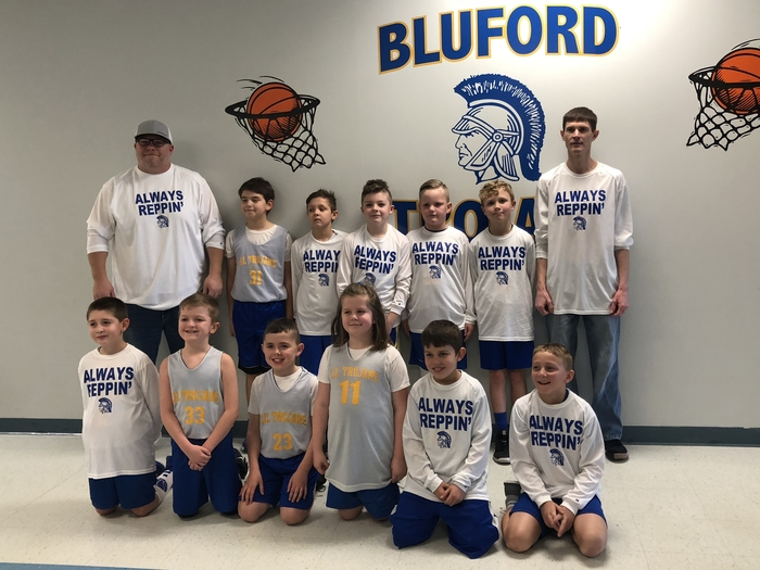 Bluford Grade School Pee Wee went undefeated this year with a 11-0 record.