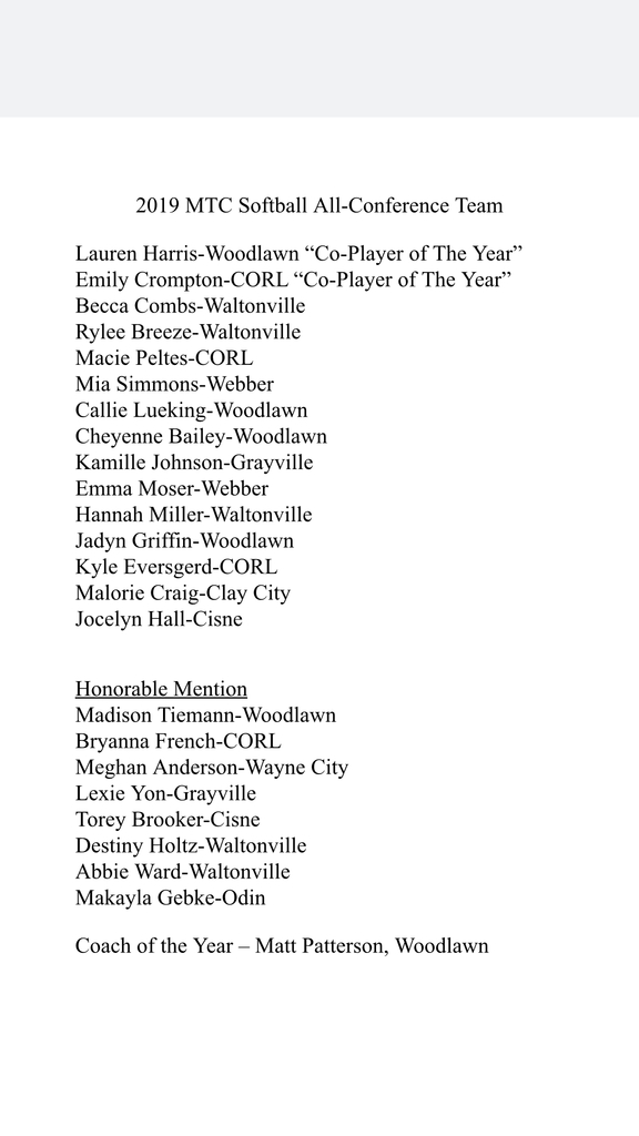 Softball All Conference